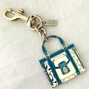New Coach Handbag Keychain Purse Charm Key Fob
